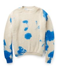 The Elder Statesman - White Dip-Dyed Cashmere Sweater for Men - Lyst