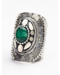 Free People | Green Womens Radial Stone Ring | Lyst