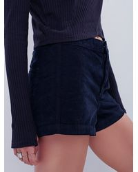 Free People - Black Womens True Colors Cord Short - Lyst