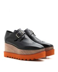 Stella McCartney - Black Elyse Platform Monk Shoes - Lyst