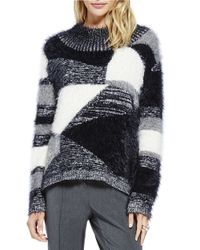 Vince Camuto | Black Eyelash Knit Sweater | Lyst