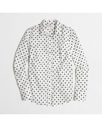 J.Crew - Blue Factory Printed Stretch Classic Button Down Shirt - Lyst