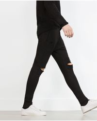 Zara | Black Plush Trousers for Men | Lyst