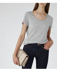 Reiss | Gray Marty Scoop-neck T-shirt | Lyst