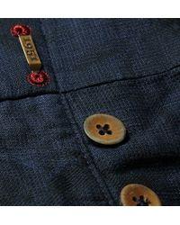 Incotex - Blue Slim-Fit Floral-Jacquard Linen And Cotton-Blend Trousers for Men - Lyst