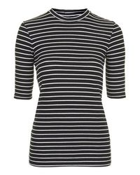 TOPSHOP | Blue Tall Exclusive Half Sleeve Striped Top | Lyst