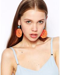 Kenneth Jay Lane | Orange Ornate Drop Earrings | Lyst
