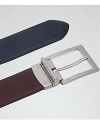 Reiss | Purple Brent Reversible Belt for Men | Lyst