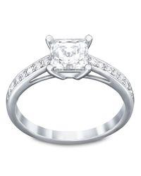 Swarovski | Metallic Attract Silvertone Crystal Ring | Lyst