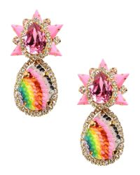 Shourouk - Pink Earrings - Lyst