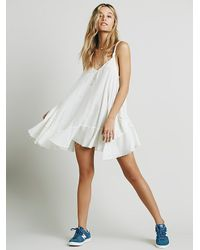 Free People | White Endless Summer Womens Check Me Out Mini | Lyst