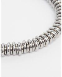 Seven London | Metallic Metal Hoop Bracelet for Men | Lyst