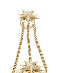 Auden - Metallic Star Hand Chain Gold - Lyst