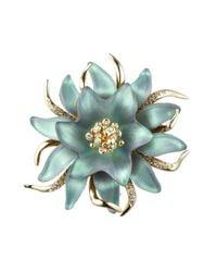 Alexis Bittar | Blue Vert D'eau Flower Fine Pin | Lyst
