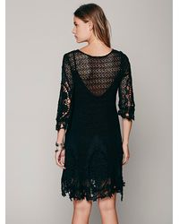 Free People | Black Mi Amore Lace Dress | Lyst