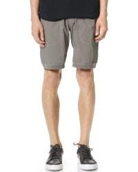 Steven Alan | Gray Stretch Nylon Shorts for Men | Lyst
