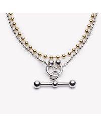 Eddie Borgo - Metallic Barbell Toggle Necklace Two Tone - Lyst
