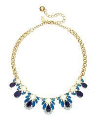kate spade new york - Metallic Gold-tone Blue Stone Graduated Collar Necklace - Lyst