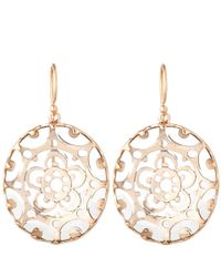 Laurent Gandini | Pink Rose Gold Bisanzio Earrings | Lyst