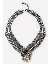 Bebe - Multicolor Crystal Pendant Necklace - Lyst