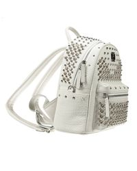 MCM - White Backpack - Lyst