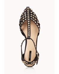 Forever 21 - Black Total Stud Pointed Sandals - Lyst