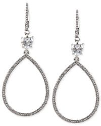 Betsey Johnson | Metallic All That Glitters Pave Crystal Large Teardrop Earrings | Lyst