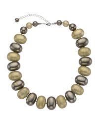 John Lewis | Metallic Oval Bead Necklace | Lyst
