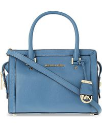 MICHAEL Michael Kors | Blue Collins Small Soft Leather Tote | Lyst