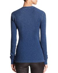 Polo Ralph Lauren - Blue Textured Henley Shirt - Lyst