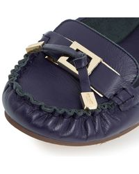 Dune   Blue Fountain Suede Lace Up Brogues   Lyst