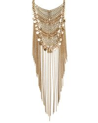 Forever 21 | Metallic Chain Fringe Statement Necklace | Lyst