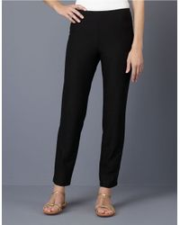 Eileen Fisher | Black Slim-fit Ankle Pants | Lyst