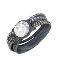 Swarovski | Gray Shine Slake Bracelet | Lyst