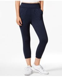 Calvin Klein | Black Performance Cropped Harem Sweatpants | Lyst