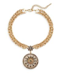 Saks Fifth Avenue | Metallic Flower Medallion Pendant Necklace | Lyst