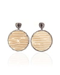 Kimberly Mcdonald - Natural Diamond Slice And Irregular Diamond Earrings - Lyst