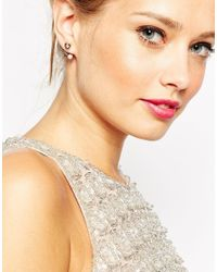 ASOS - Metallic Ditsy Swing Earrings - Lyst