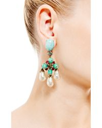 House of Lavande - Multicolor Schreiner Turquoise and Pearl Drop Earrings - Lyst