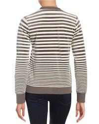 Calvin Klein - Natural Striped Velour Topper - Lyst
