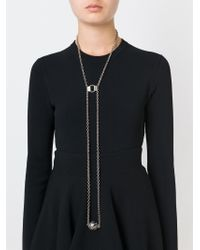 Alexander McQueen - Black Harness Skull Pendant Necklace - Lyst