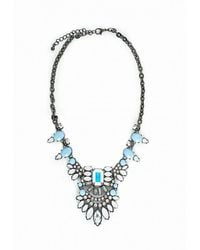 Missguided | Gray Statement Gem Necklace Ice Grey | Lyst