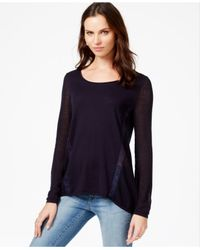Lucky Brand | Blue Lace-trim Sweater | Lyst