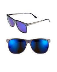 10fc7d22c7b84 Lyst - Carrera 57mm Retro Sunglasses - Transparent Blue for Men