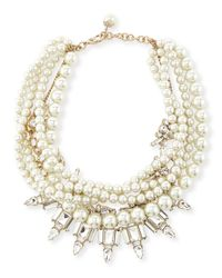 Lulu Frost - White Lustre Multi-strand Statement Necklace - Lyst