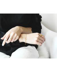 Vrai & Oro | Pink Circle Bracelet | Lyst