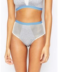 Wolf & Whistle - Blue Jersey High Waist Brief - Lyst