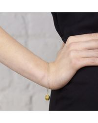 Maya Magal - Metallic Cube Bracelet Gold - Lyst