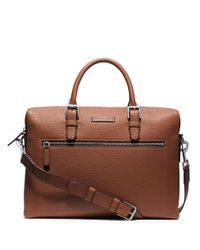 Michael Kors | Brown Large Front Zip Briefcase for Men | Lyst