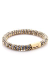 Carolina Bucci | Pink Rose Gold/blue Twister Bracelet | Lyst